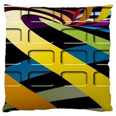 Colorful Docking Frame Large Cushion Case (one Side) by BangZart