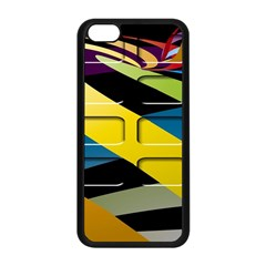 Colorful Docking Frame Apple Iphone 5c Seamless Case (black) by BangZart