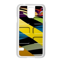 Colorful Docking Frame Samsung Galaxy S5 Case (white) by BangZart