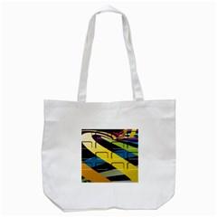 Colorful Docking Frame Tote Bag (white) by BangZart