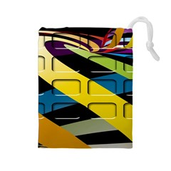 Colorful Docking Frame Drawstring Pouches (large)  by BangZart
