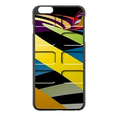Colorful Docking Frame Apple Iphone 6 Plus/6s Plus Black Enamel Case by BangZart