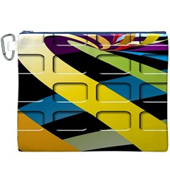 Colorful Docking Frame Canvas Cosmetic Bag (xxxl) by BangZart