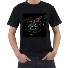 Sparkle Design Men s T Shirt (black)