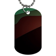 Color Vague Abstraction Dog Tag (two Sides) by BangZart