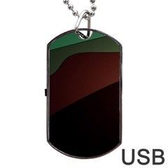 Color Vague Abstraction Dog Tag Usb Flash (two Sides) by BangZart