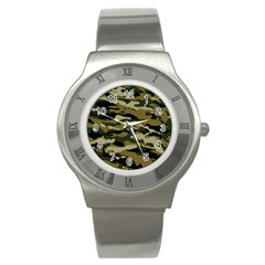 Military Vector Pattern Texture Stainless Steel Watch by BangZart