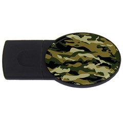 Military Vector Pattern Texture Usb Flash Drive Oval (4 Gb) by BangZart