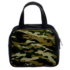 Military Vector Pattern Texture Classic Handbags (2 Sides) by BangZart