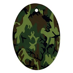 Military Camouflage Pattern Ornament (oval) by BangZart