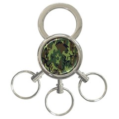 Military Camouflage Pattern 3 Ring Key Chains by BangZart