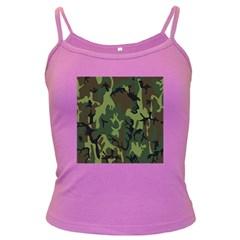 Military Camouflage Pattern Dark Spaghetti Tank