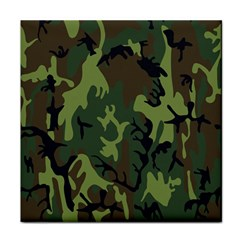Military Camouflage Pattern Face Towel by BangZart