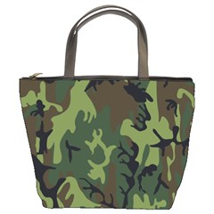 Military Camouflage Pattern Bucket Bags by BangZart