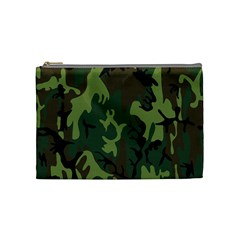 Military Camouflage Pattern Cosmetic Bag (medium)  by BangZart