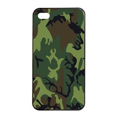 Military Camouflage Pattern Apple Iphone 4/4s Seamless Case (black) by BangZart