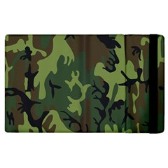 Military Camouflage Pattern Apple Ipad 3/4 Flip Case by BangZart