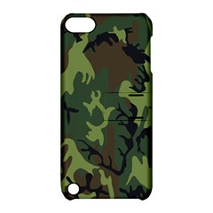 Military Camouflage Pattern Apple Ipod Touch 5 Hardshell Case With Stand