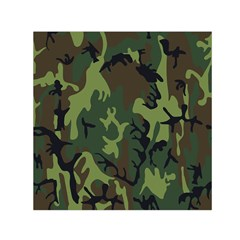 Military Camouflage Pattern Small Satin Scarf (square) by BangZart