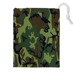 Military Camouflage Pattern Drawstring Pouches (xxl) by BangZart
