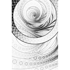 Enso, A Perfect Black And White Zen Fractal Circle 5 5  X 8 5  Notebooks by beautifulfractals