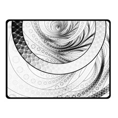 Enso, A Perfect Black And White Zen Fractal Circle Fleece Blanket (small) by beautifulfractals