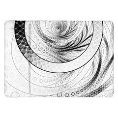 Enso, A Perfect Black And White Zen Fractal Circle Samsung Galaxy Tab 8 9  P7300 Flip Case by beautifulfractals