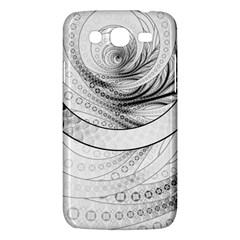 Enso, A Perfect Black And White Zen Fractal Circle Samsung Galaxy Mega 5 8 I9152 Hardshell Case  by beautifulfractals