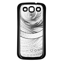 Enso, A Perfect Black And White Zen Fractal Circle Samsung Galaxy S3 Back Case (black) by beautifulfractals