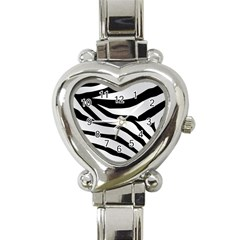 White Tiger Skin Heart Italian Charm Watch by BangZart
