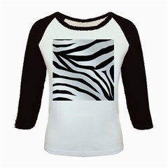 White Tiger Skin Kids Baseball Jerseys