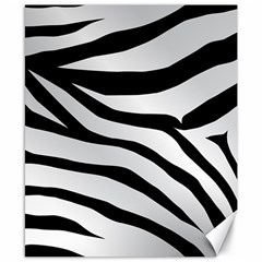 White Tiger Skin Canvas 8  X 10  by BangZart