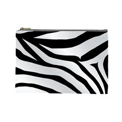White Tiger Skin Cosmetic Bag (large)  by BangZart