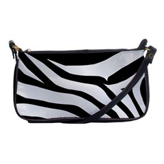 White Tiger Skin Shoulder Clutch Bags by BangZart