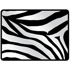 White Tiger Skin Fleece Blanket (large)  by BangZart