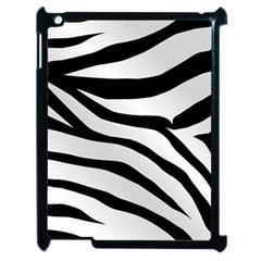 White Tiger Skin Apple Ipad 2 Case (black) by BangZart
