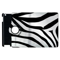 White Tiger Skin Apple Ipad 2 Flip 360 Case by BangZart