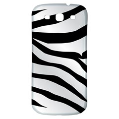 White Tiger Skin Samsung Galaxy S3 S Iii Classic Hardshell Back Case by BangZart