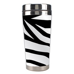 White Tiger Skin Stainless Steel Travel Tumblers by BangZart