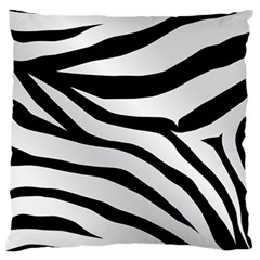 White Tiger Skin Large Flano Cushion Case (two Sides) by BangZart