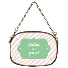 Today Will Be Great Chain Purses (one Side)  by BangZart