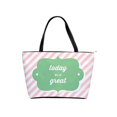 Today Will Be Great Shoulder Handbags by BangZart