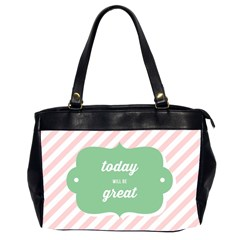 Today Will Be Great Office Handbags (2 Sides)  by BangZart