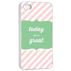 Today Will Be Great Apple Iphone 4/4s Seamless Case (white) by BangZart