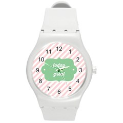 Today Will Be Great Round Plastic Sport Watch (m) by BangZart