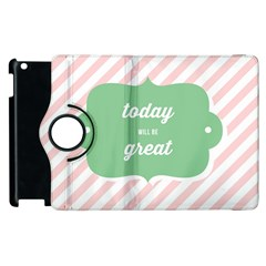Today Will Be Great Apple Ipad 2 Flip 360 Case by BangZart