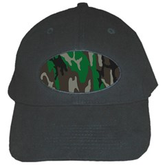 Army Green Camouflage Black Cap by BangZart