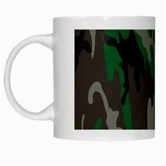 Army Green Camouflage White Mugs by BangZart