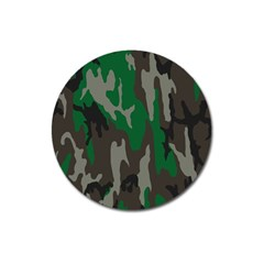 Army Green Camouflage Magnet 3  (round) by BangZart