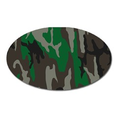 Army Green Camouflage Oval Magnet by BangZart